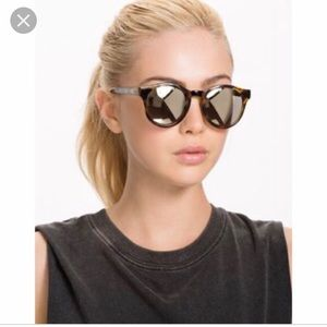 Le Specs Tortoise Mirrored Sunglasses